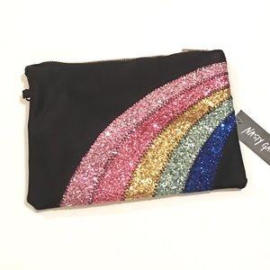 Nasty Gal Glitter Rainbow Clutch 🌈
